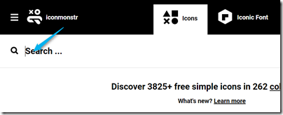 iconmonstrでアイコンを検索