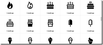 iconmonstrのアイコン一覧画面