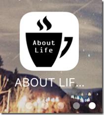 iPhoneのホーム画面での「About Life」のアイコン