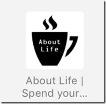 iPhone版Safariのお気に入りでの「About LIfe」のアイコン