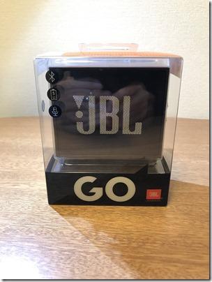 Bluetoothスピーカー JBL GOのパッケージ
